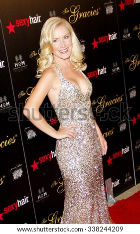 LOS ANGELES, CALIFORNIA - May 23, 2012. Angela Kinsey at the 37th Annual Gracie Awards Gala held at the Beverly Hilton Hotel, Los Angeles.   - stock photo