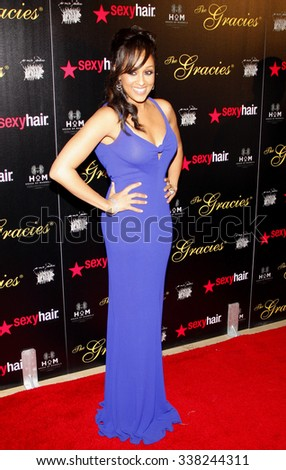 LOS ANGELES, CALIFORNIA - May 23, 2012. Tia Mowry at the 37th Annual Gracie Awards Gala held at the Beverly Hilton Hotel, Los Angeles.   - stock photo