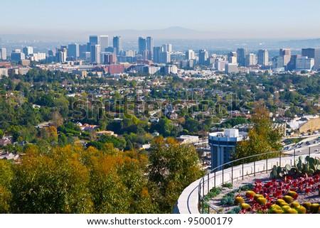 Los Angeles, California skyline - stock photo