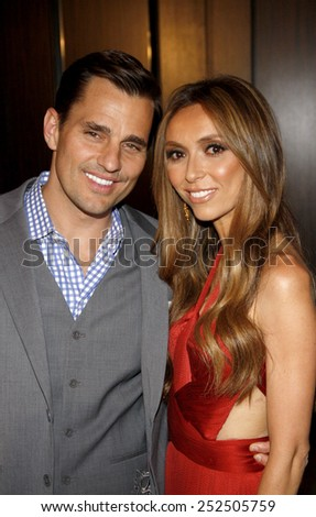 LOS ANGELES, CALIFORNIA - Tuesday May 23, 2012. Bill Rancic and Giuliana Rancic at the 37th Annual Gracie Awards Gala held at the Beverly Hilton Hotel, Los Angeles.  - stock photo
