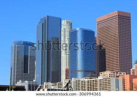 Los Angeles, California, United States. City skyline view. - stock photo