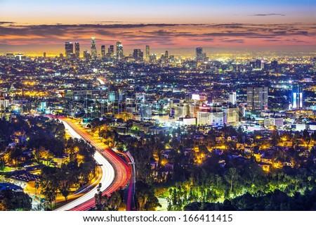 Los Angeles, California, USA cityscape. - stock photo
