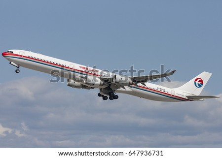 A340 stock images royalty free images vectors - China eastern airlines bangkok office ...