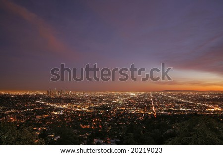 Los Angeles Cityscape - stock photo