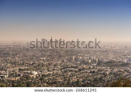 Los Angeles cityscape - stock photo