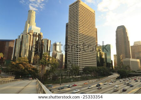 Los Angeles daytime view - stock photo