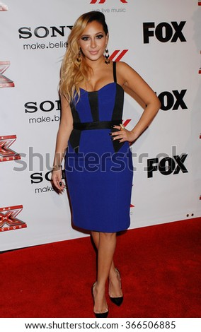 LOS ANGELES - DEC 6 - Adrienne Bailon arrives at the X Factor Viewing Party  on December 6, 2012 in Los Angeles, CA              - stock photo