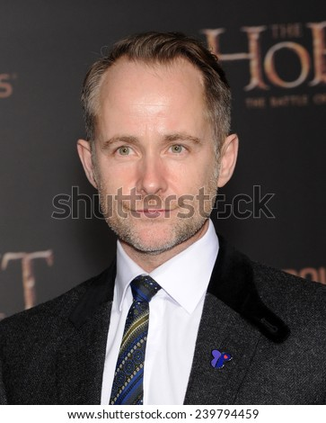 "LOS ANGELES - DEC 09:  Billy Boyd arrives to the ""The Hobbit: The Battle Of The Five Armies"" Los Angeles Premiere  on December 9, 2014 in Hollywood, CA                 - stock photo"