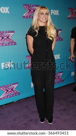 LOS ANGELES - DEC 19 - Britney Spears arrives at the X Factor 2012 Season Finale Day 1  on December 19, 2012 in Los Angeles, CA              - stock photo