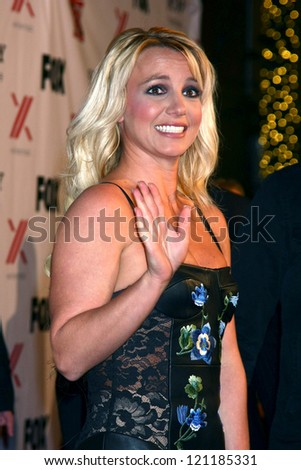 LOS ANGELES - DEC 6:  Britney Spears arrives to the X Factor 2012 Final Four Party at Rodeo Drive on December 6, 2012 in Beverly Hills, CA - stock photo
