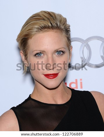 LOS ANGELES - DEC 02:  Brittany Snow arrives to Trevor Project Honors Katy Perry  on December 02, 2012 in Hollywood, CA - stock photo