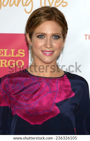 """LOS ANGELES - DEC 7:  Brittany Snow at the """"TrevorLIVE LA"""" at the Hollywood Palladium on December 7, 2014 in Los Angeles, CA - stock photo"""
