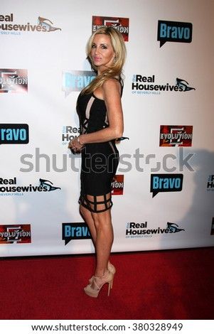 LOS ANGELES - DEC 3:  Camille Grammer at The Real Housewives of Beverly Hills Premiere Red Carpet 2015 at the W Hotel Hollywood on December 3, 2015 in Los Angeles, CA - stock photo