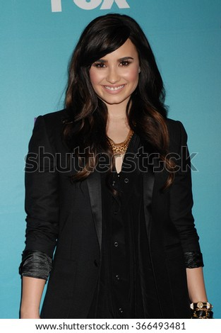 LOS ANGELES - DEC 19 - Demi Lovato arrives at the X Factor 2012 Season Finale Day 1  on December 19, 2012 in Los Angeles, CA              - stock photo