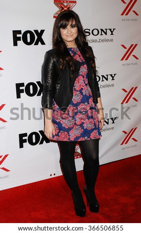 LOS ANGELES - DEC 6 - Demi Lovato arrives at the X Factor Viewing Party  on December 6, 2012 in Los Angeles, CA              - stock photo