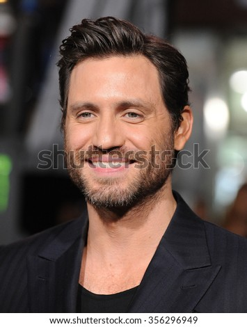 "LOS ANGELES - DEC 15:  Edgar Ramirez arrives to the ""Point Break"" Los Angeles Premiere  on December 15, 2015 in Hollywood, CA.                 - stock photo"