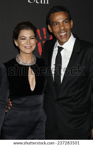 LOS ANGELES - DEC 11:  Ellen Pompeo, Chris Ivery at the Rihanna's First Annual Diamond Ball at the The Vineyard on December 11, 2014 in Beverly Hills, CA - stock photo