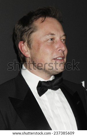 LOS ANGELES - DEC 11:  Elon Musk at the Rihanna's First Annual Diamond Ball at the The Vineyard on December 11, 2014 in Beverly Hills, CA - stock photo