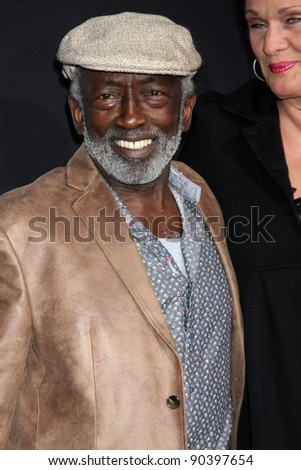 "LOS ANGELES - DEC 7:  Garrett Morris arrives at the Premiere Of Encore's ""Method To The Madness Of Jerry Lewis"" at Paramount Studios Theater on December 7, 2011 in Los Angeles, CA - stock photo"