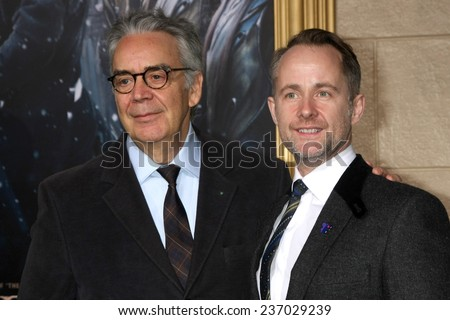 "LOS ANGELES - DEC 9:  Howard Shore, Billy Boyd at the ""The Hobbit: The Battle of the Five Armies"" Los Angeles Premiere at the Dolby Theater on December 9, 2014 in Los Angeles, CA - stock photo"