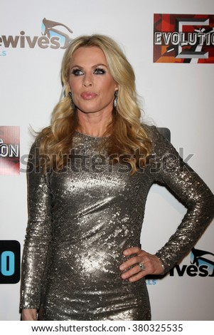 LOS ANGELES - DEC 3: Kathryn Edwards at The Real Housewives of Beverly Hills Premiere Red Carpet 2015 at the W Hotel Hollywood on December 3, 2015 in Los Angeles, CA - stock photo
