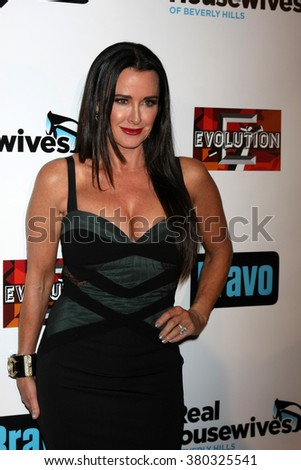 LOS ANGELES - DEC 3:  Kyle Richards at The Real Housewives of Beverly Hills Premiere Red Carpet 2015 at the W Hotel Hollywood on December 3, 2015 in Los Angeles, CA - stock photo