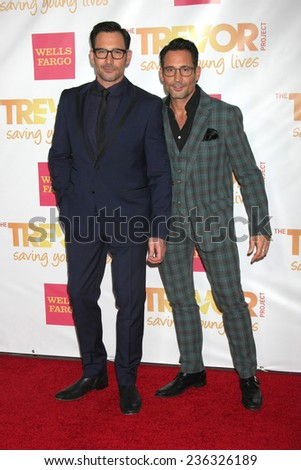 """LOS ANGELES - DEC 7:  Lawrence Zarian, Gregory Zarian at the """"TrevorLIVE LA"""" at the Hollywood Palladium on December 7, 2014 in Los Angeles, CA - stock photo"""