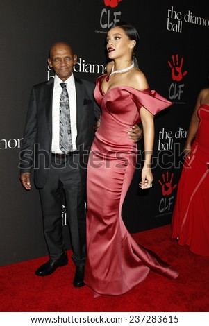 LOS ANGELES - DEC 11:  Lionel Braithwaite , Rihanna at the Rihanna's First Annual Diamond Ball at the The Vineyard on December 11, 2014 in Beverly Hills, CA - stock photo