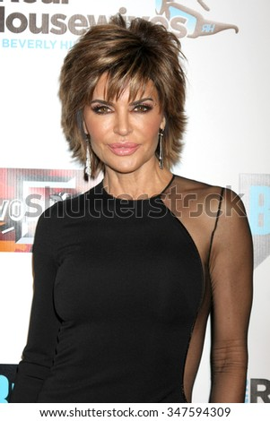 LOS ANGELES - DEC 3:  Lisa Rinna at theThe Real Housewives of Beverly Hills Premiere Red Carpet 2015 at the W Hotel Hollywood on December 3, 2015 in Los Angeles, CA - stock photo