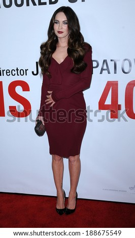 """LOS ANGELES - DEC 12:  Megan Fox arrives to the """"This Is 40"""" World Premiere  on December 12, 2012 in Hollywood, CA                 - stock photo"""