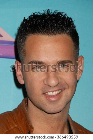 "LOS ANGELES - DEC 19 - Mike ""The Situation"" Sorrentino arrives at the X Factor 2012 Season Finale Day 1  on December 19, 2012 in Los Angeles, CA              - stock photo"