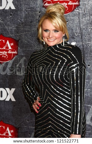LOS ANGELES - DEC 10:  Miranda Lambert arrives to the American Country Awards 2012 at Mandalay Bay Resort and Casino on December 10, 2012 in Las Vegas, NV - stock photo