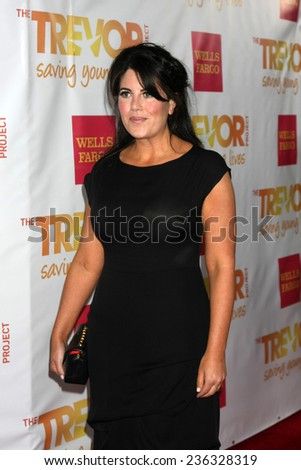 "LOS ANGELES - DEC 7:  Monica Lewinsky at the ""TrevorLIVE LA"" at the Hollywood Palladium on December 7, 2014 in Los Angeles, CA - stock photo"