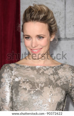 "LOS ANGELES - DEC 6:  Rachel McAdams arrives at the ""Sherlock Holmes: A Game of Shadows"" Los Angeles Premiere at Regency Village Theatre on December 6, 2011 in Westwood, CA - stock photo"