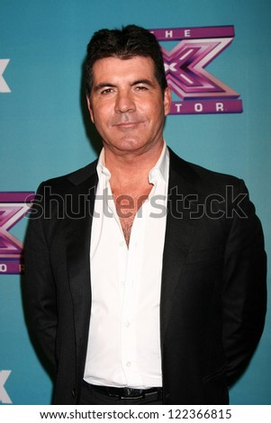 LOS ANGELES - DEC 19:  Simon Cowell at the 'X Factor' Season Finale performances  show taping at CBS Television City on December 19, 2012 in Los Angeles, CA - stock photo