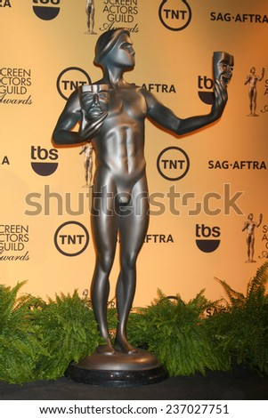 LOS ANGELES - DEC 10:  The Actor Statue at the 21st Annual Screen Actors Guild Awards Nominations Announcement at the Pacific Design Center on December 10, 2014 in West Hollywood, CA - stock photo
