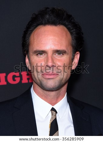 "LOS ANGELES - DEC 07:  Walton Goggins arrives to the ""The Hateful Eight"" Los Angeles Premiere  on December 07, 2015 in Hollywood, CA.                 - stock photo"