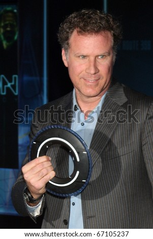 "LOS ANGELES - DEC 11:  Will Farrell arrives at the ""TRON: Legacy"" Premiere at El Capitan Theater on December 11, 2010 in Los Angeles, CA."