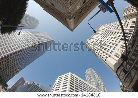 Los Angeles Downtown Skyline - stock photo