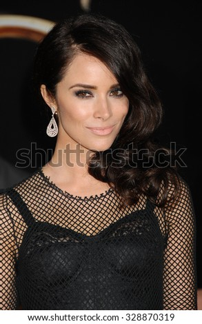 LOS ANGELES - FEB 13 - Abigail Spencer arrives at the Oz The Great and Powerful World Premiere on February 13, 2013 in Los Angeles, CA              - stock photo
