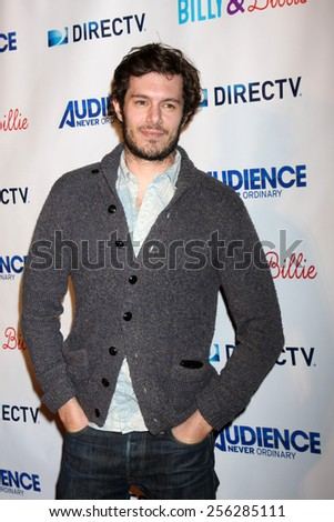 "LOS ANGELES - FEB 25:  Adam Brody at the ""Billy & Billie"" Premiere Screening of DirecTV's Series at  The Lot on February 25, 2015 in Los Angeles, CA - stock photo"