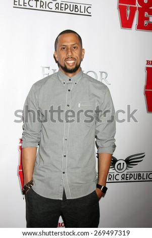 """LOS ANGELES - FEB 13:  Affion Crockett at the """"Brotherly Love"""" LA Premiere at the Silver Screen Theater at the Pacific Design Center on April 13, 2015 in West Hollywood, CA - stock photo"""