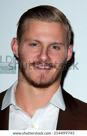 LOS ANGELES - FEB 19:  Alexander Ludwig at the Oscar Wilde US-Ireland Pre-Academy Awards Event at a Bad Robot on February 19, 2015 in Santa Monica, CA - stock photo