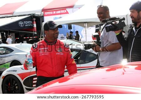 LOS ANGELES - FEB 7:  Alfonso Ribeiro at the Toyota Grand Prix of Long Beach Pro/Celebrity Race Press Day at the Grand Prix Compound on FEB 7, 2015 in Long Beach, CA - stock photo