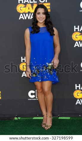 LOS ANGELES - FEB 9 - Aly Raisman arrives at the 13rd Annual Cartoon Network Hall Of Game Awards on February 9, 2013 in Los Angeles, CA              - stock photo
