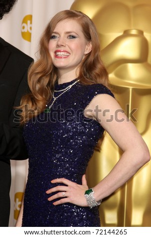 LOS ANGELES -  FEB 27: Amy Adams arrives in the Press Room at the 83rd Academy Awards at Kodak Theater, Hollywood & Highland on February 27, 2011 in Los Angeles, CA - stock photo
