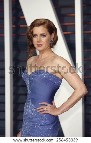 LOS ANGELES - FEB 22:  Amy Adams at the Vanity Fair Oscar Party 2015 at the Wallis Annenberg Center for the Performing Arts on February 22, 2015 in Beverly Hills, CA - stock photo