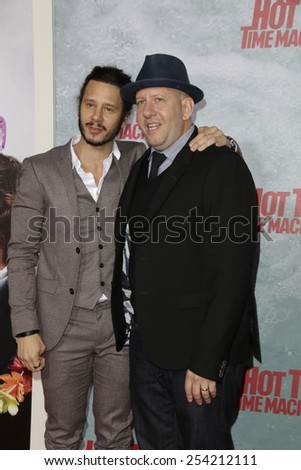 LOS ANGELES - FEB 18: Andrew Panay, Steve Pink at the 'Hot Tub Time Machine 2' premiere on February 18, 2014 in Los Angeles, California - stock photo