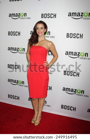 "LOS ANGELES - FEB 3:  Annie Wersching at the ""Bosch"" Amazon Red Carpet Premiere Screening at a ArcLight Hollywood Theaters on February 3, 2015 in Los Angeles, CA"