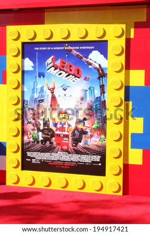 "LOS ANGELES - FEB 1:  Atmosphere at the ""Lego Movie"" Premiere at Village Theater on February 1, 2014 in Westwood, CA - stock photo"